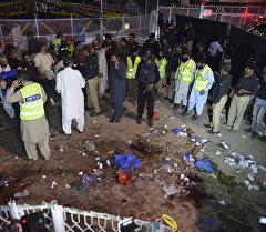 Взрыв в городе Лахор на востоке Пакистана