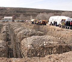 Нарын районуна караштуу Эчки-Башы айылындагы мектептин жаңы имаратын түптөө аземи