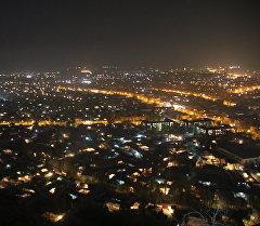 Вид на ночной город Ош с горы Сулайман-Тоо. Архивное фото