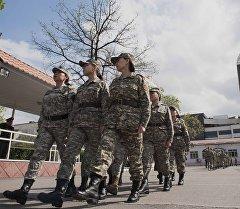 Повышение квалификации младших сержантов Национальной гвардии КР