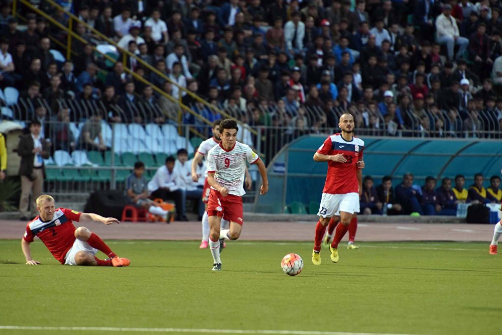 Матч Таджикистан — Кыргызстан в рамках отборочного раунда чемпионата мира 2018 года