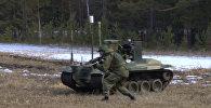 Боевой робот Нерехта охранял Тополь-М на учениях под Иркутском