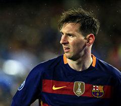 Аргентинский нападающий Барселоны Лионель Месси во время матча. Архинвое фото