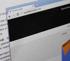 Снимок с монитора компьютера сайта Sputnik Латвия. Архивное фото