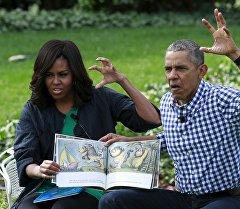 Америка лидери Барак жана Мишель Обаманын архивдик сүрөтү