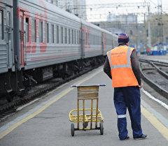 Екатеринбург шаарындагы темир жол вокзалы. Архив