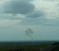 Момент падения азербайджанского беспилотника