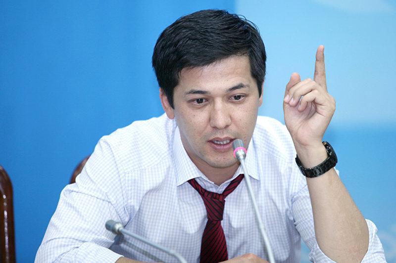 Экс-депутат ЖК Жоомарт Сапарбаев от фракции Ата-Мекен. Архивное фото