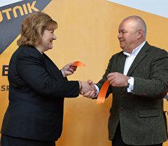 Генеральный директор МИА Россия сегодня Дмитрий Киселев на открытии пресс-центра Sputnik в Минске