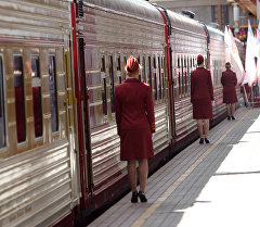 Перрон железнодорожной станции. Архивное фото