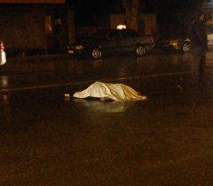 Дождь и авария со смертельным исходом. Кадры с места ДТП