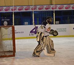 Вратарь сборной Кыргызстана по хоккею. Архивное фото