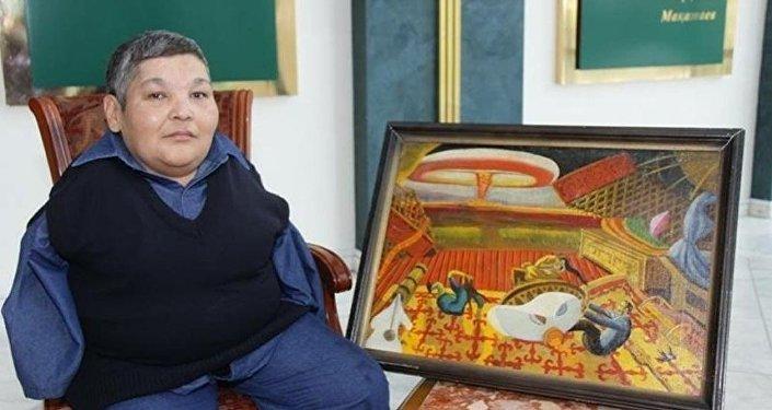 Казахский художник Карипбек Куюков