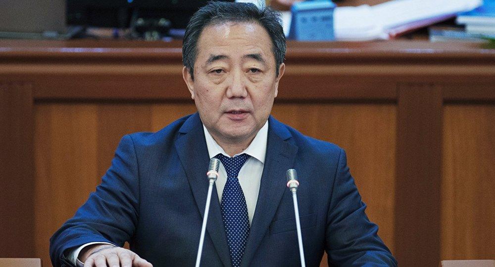 Министр социального развития Кыргызстана Кудайберген Базарбаев. Архивное фото