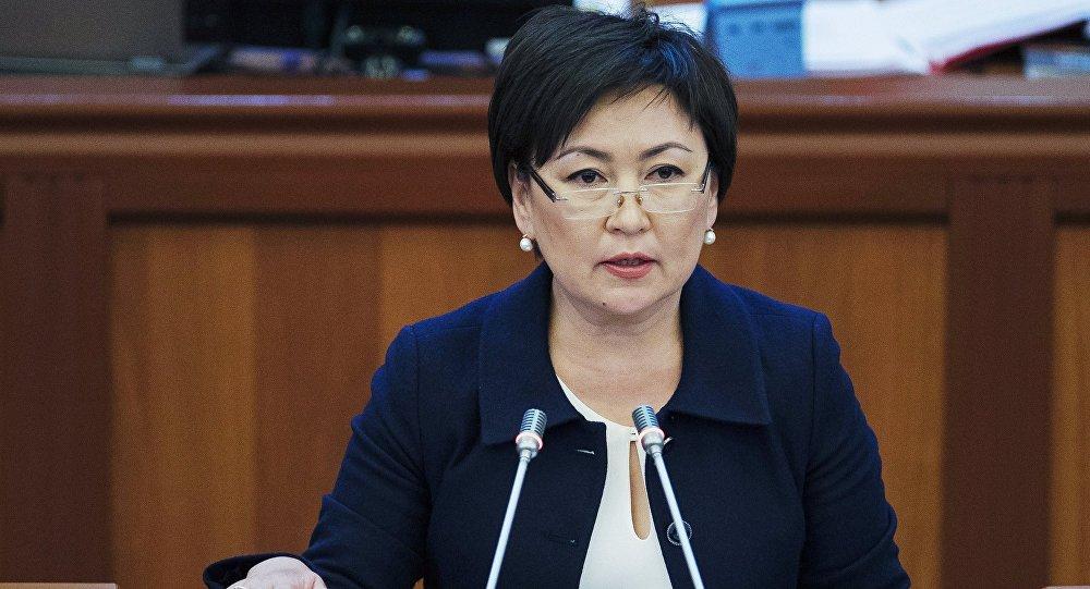 КР вице-премьер-министри Гульмира Кудайбердиева. Архив
