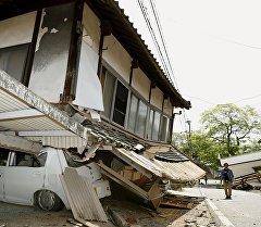 Последствия землетрясения в префектуре Кумамото, Япония