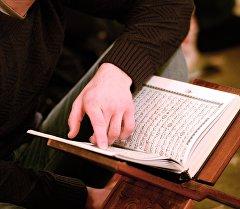 Диний китеп окуп жаткан мусулман. Архив