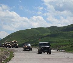 Воинский контингент войсковой части 52870 на пути в Таджикистан для спецучения стран ОДКБ