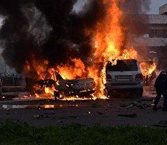Взрыв служебного автомобиля депутата парламента Абхазии Алмаса Джапуа