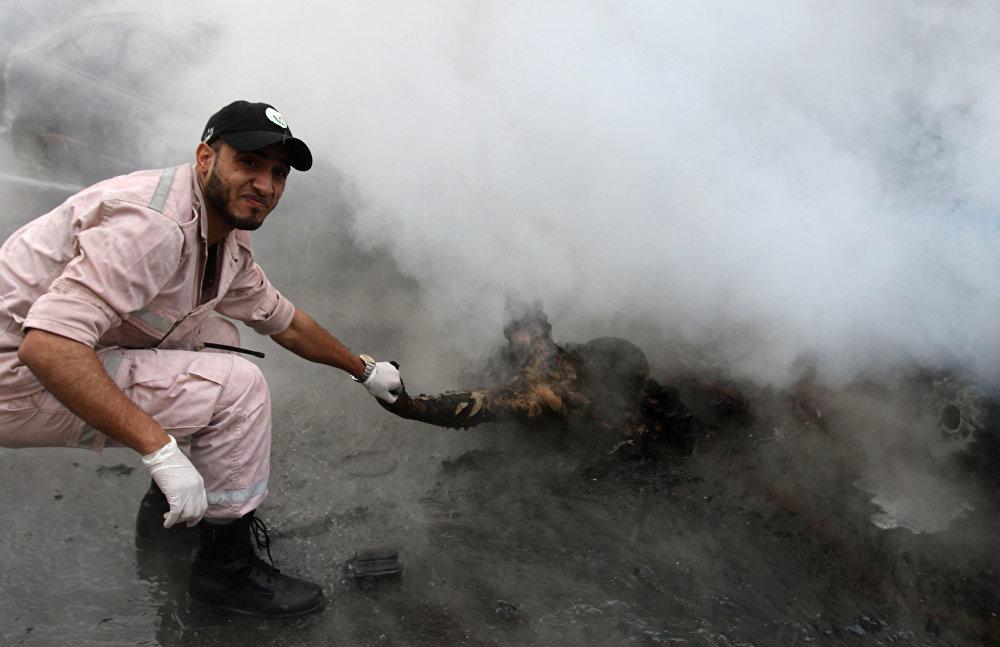 Взрыв заминированного автомобиля в крупном ливанском городе Сайда