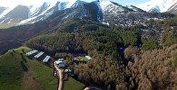 Красоты Кыргызстана. Как выглядит с высоты ущелье Чункурчак