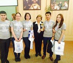 Россиядагы Авиценна-2016 конференциясына барган Кыргызстандык студенттер.