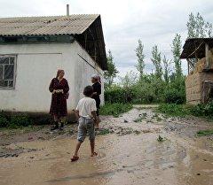 Последствия селевых потоков в Сузакском районе