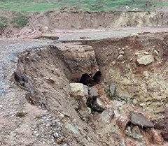 Последствия селя в Алайском районе села Будалык. Архивное фото
