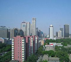 Вид на один из кварталов Пекина, Китай. Архивное фото