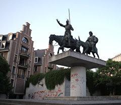 Брюсселдеги Дон-Кихоттун эстелиги. Архив