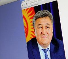 Снимок с официального сайта Правительства КР. Председатель Государственной таможенной службы Адамкул Жунусов. Архивное фото