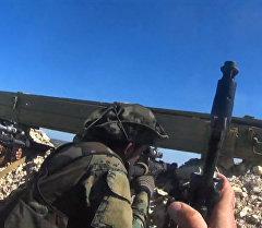 Военные сирийской армии сняли на GoPro обстрелы позиций боевиков в Латакии