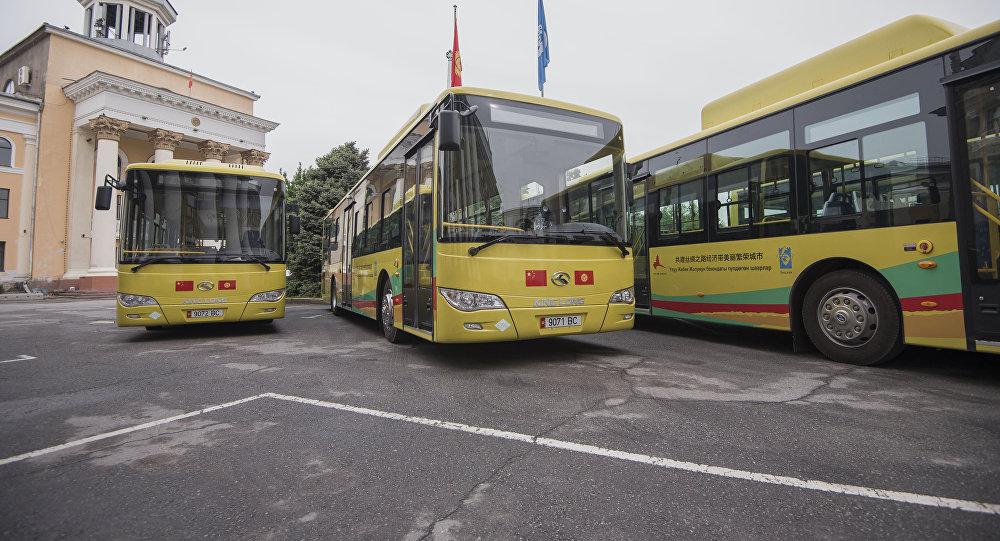 Бишкектеги автобустар. Архивдик сүрөт