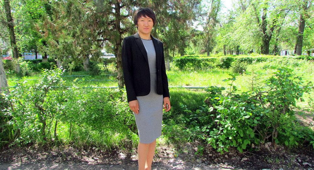 Мастер спорта международного класса по женской борьбе Айсулуу Тыныбекова