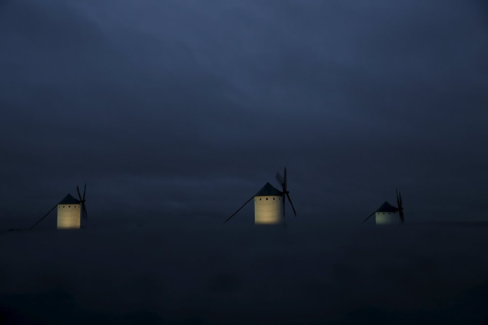 Ветряные мельницы в Кампо-де-Криптана. Испания