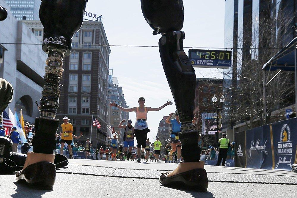 Бостонский марафон в США