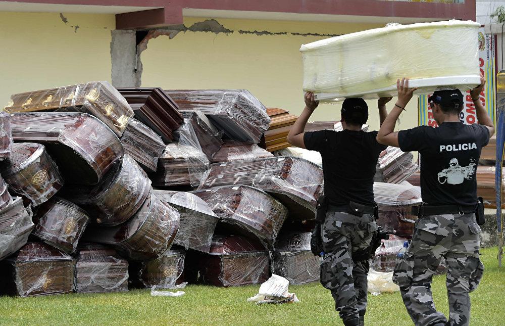 Последствия мощного землетрясения в Эквадоре