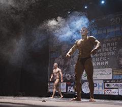 Открытый чемпионат КР по бодибилдингу IFBB в Бишкеке