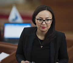 Депутат ЖК 6 созыва от партии Кыргызстан Айсулуу Мамашова на заседании. Архивное фото