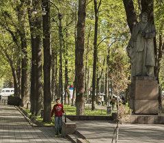 Акын Темиркул Үмөталиевдин Бишкек шаарындагы айкели. Архив