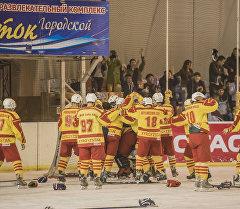 Спортсмены сборной Кыргызстана по хоккею. Архивное фото