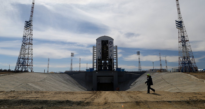 Ракета-носитель Союз-2.1а на стартовом комплексе космодрома Восточный. Архивное фото