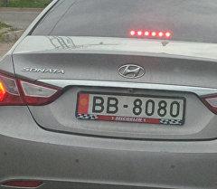 Күмөндүү BB-8080 тагып жүргөн Hyundai Sonata унаасы