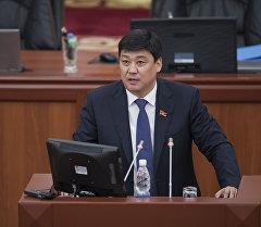Жогорку Кеңештин депутаты Бакыт Төрөбаев. Архивдик сүрөт