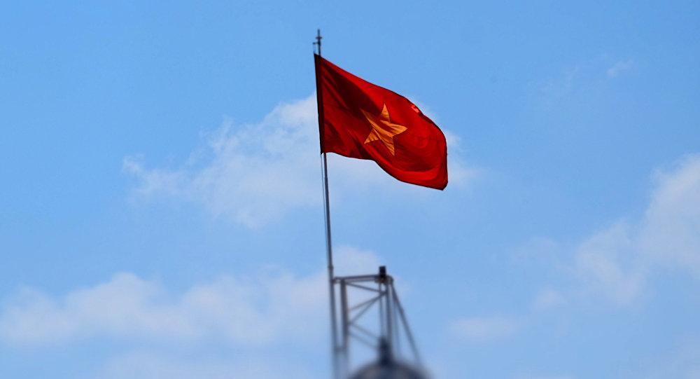 Флаг Демократической Республики Вьетнам. Архивное фото