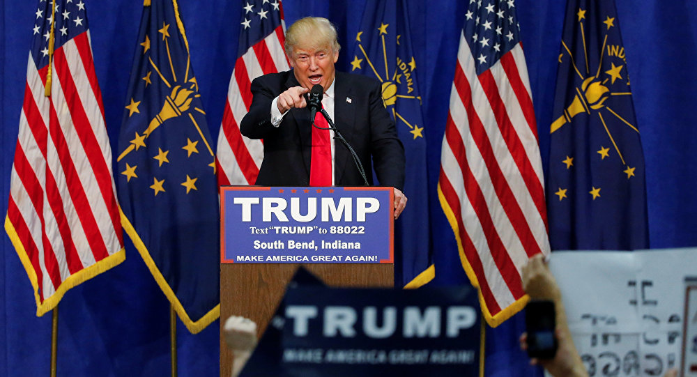 Кандидат на пост президента США от Республиканской партии Дональд Трамп