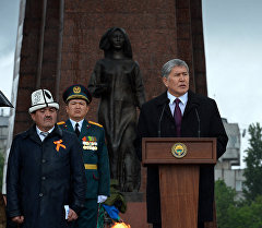 Президент Алмазбек Атамбаев Улуу жеңиштин 71 жылдыгына арналган эскерүү иш-чарасында