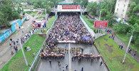 Бишкектеги 20 миң киши катышкан Өлбөс полктун жүрүшү