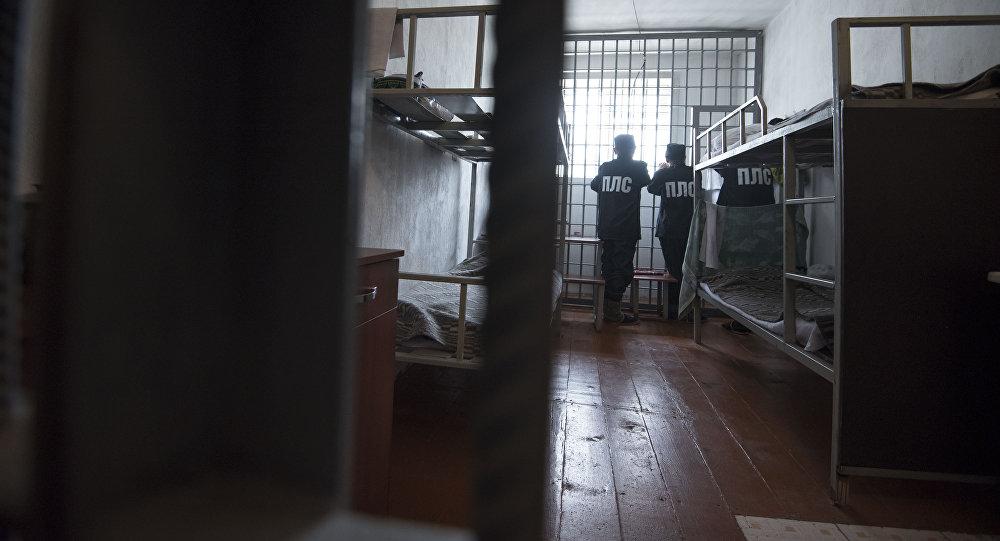 Осужденные в тюремной камере. Архивное фото