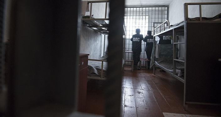 Осужденные на пожизненное лишение свободы на спецкомплексе в исправительной колонии. Архивное фото